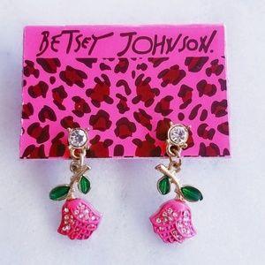 ❤4 for $25❤ Betsey Johnson Pink Rose Gold Earrings